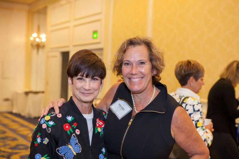 Laurie Gorelick with Sherry Qualls of White Good