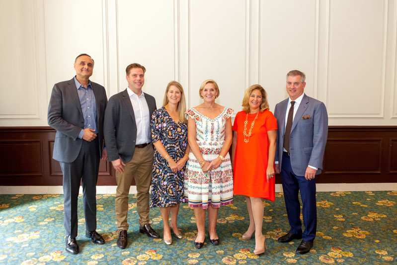 Drew Rust of Walker Zanger, Martin Goebel of Goebel & Co. Custom Furniture, Annsley McAleer of Annsley Interiors, Mally Skok, Samantha Nestor of Chrysanthemum Partners, and Greg Rohl