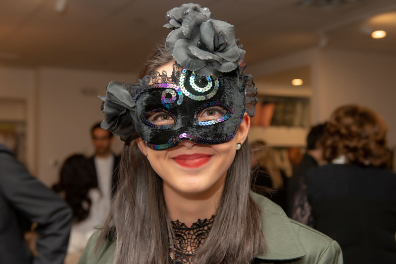 Revelers dressed up for the masquerade.