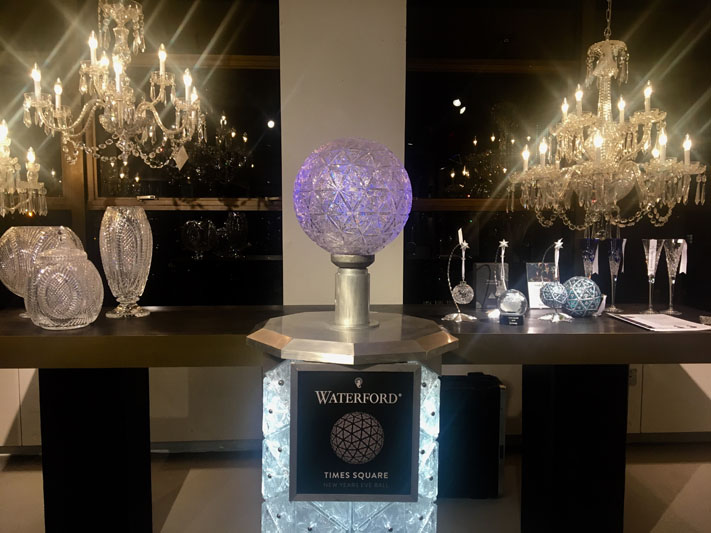 Guests were welcome to interact with the Waterford Times Square Crystal Ball podium.