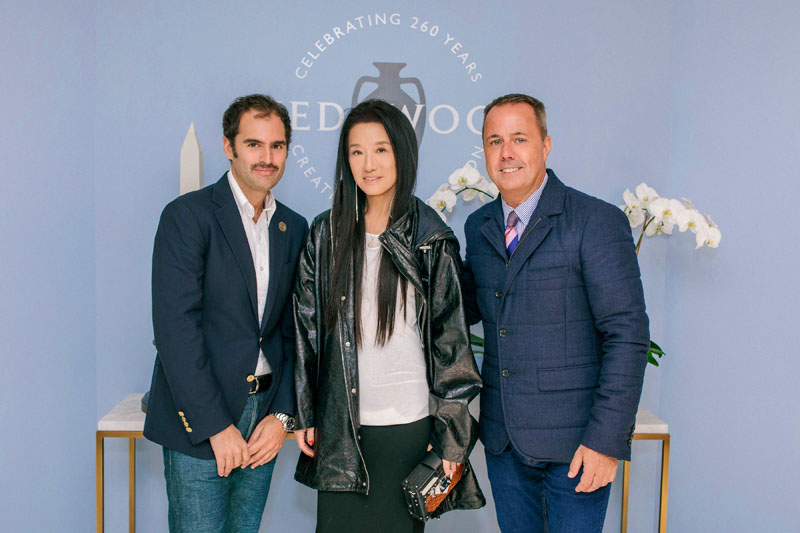 Elle Decor editor in chief Whitney Robinson, Vera Wang and president of Fiskars Living Americas, Michael Craig