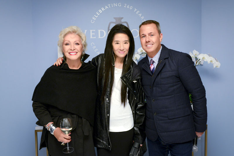 Lady Jean Wedgwood, Vera Wang and president of Fiskars Living Americas, Michael Craig