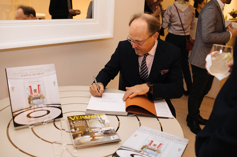 John B. Murray signed copies of his book, 'Contemporary Classical Architecture.'