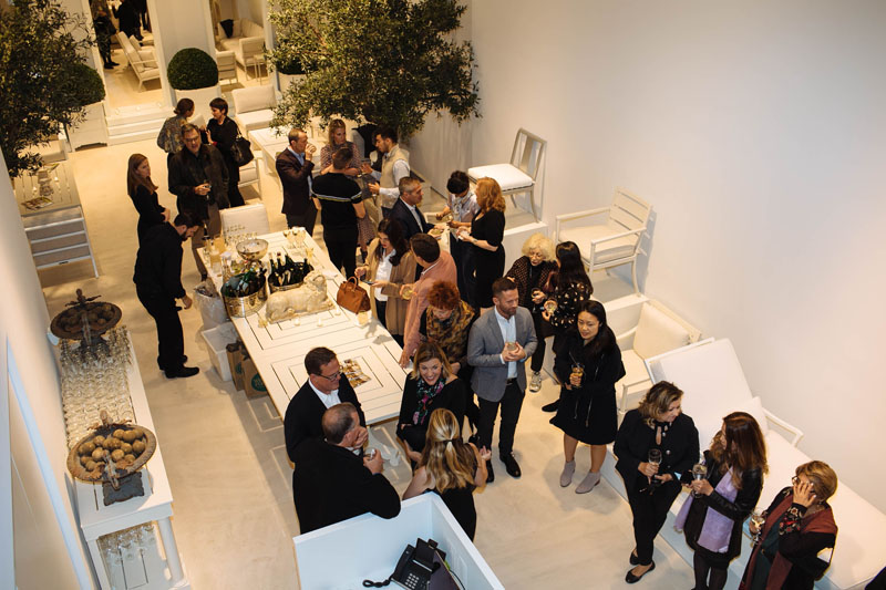 The event was held in the McKinnon and Harris showroom on New York's Upper East Side.