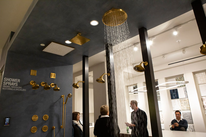The event was held in New York City's Kohler Experience Center.
