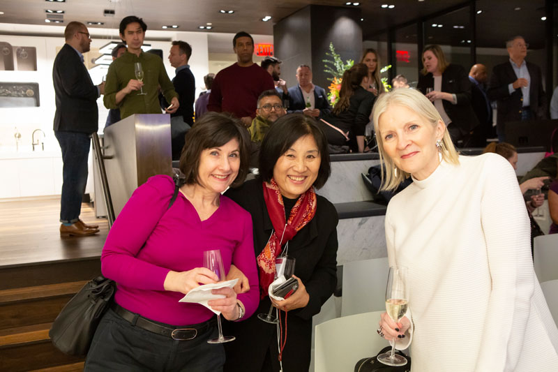 Haeran Ku (center) and Deborah Dillon (right)