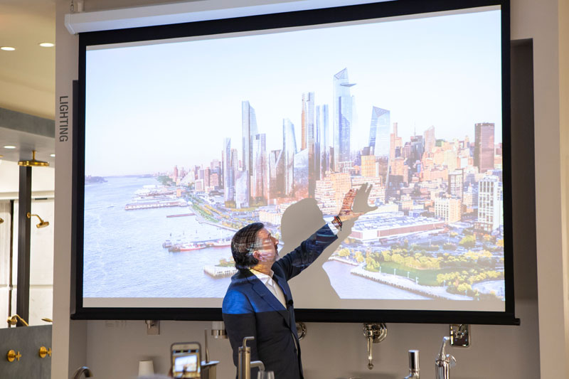 Kikoski presents his project One Hudson Yards.
