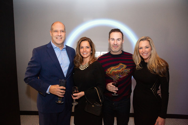 Randy Warner with members of the Dacor Design Council, (from left)  Laurie Anastos of Interior Design Concepts, Adam Hunter of Adam Hunter Designs, and Patricia Davis Brown of Patricia Davis Brown Designs