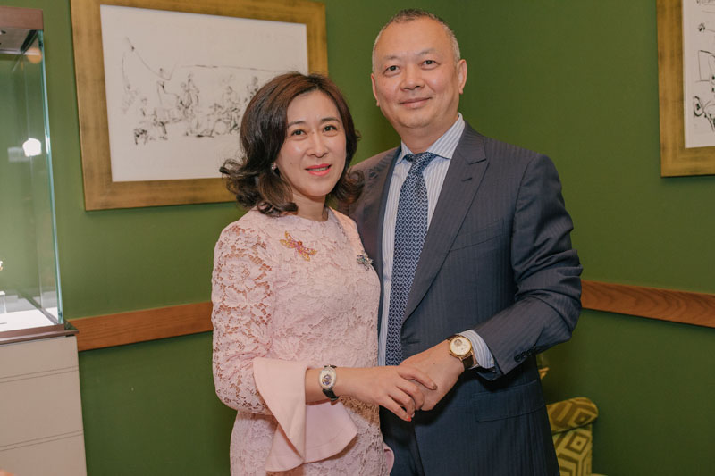Wei Chen and Nan Lin model Breguet timpieces.