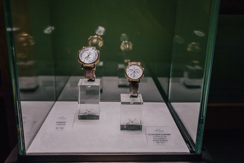 Breguet timepieces were on display.