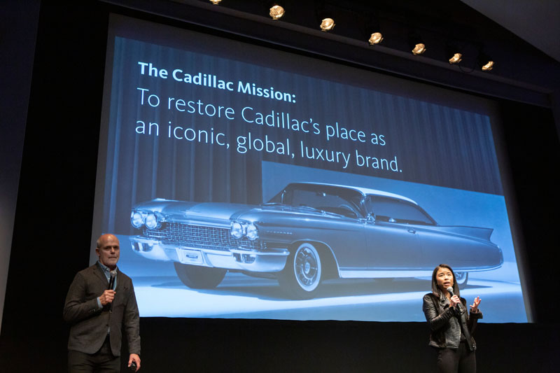 Melody Lee, former brand manager Cadillac with John Bricker, Gensler