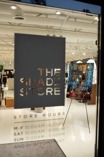 The Shade Store opened its doors to welcome new Veranda editor in chief Steele Marcoux to the Dallas design community.