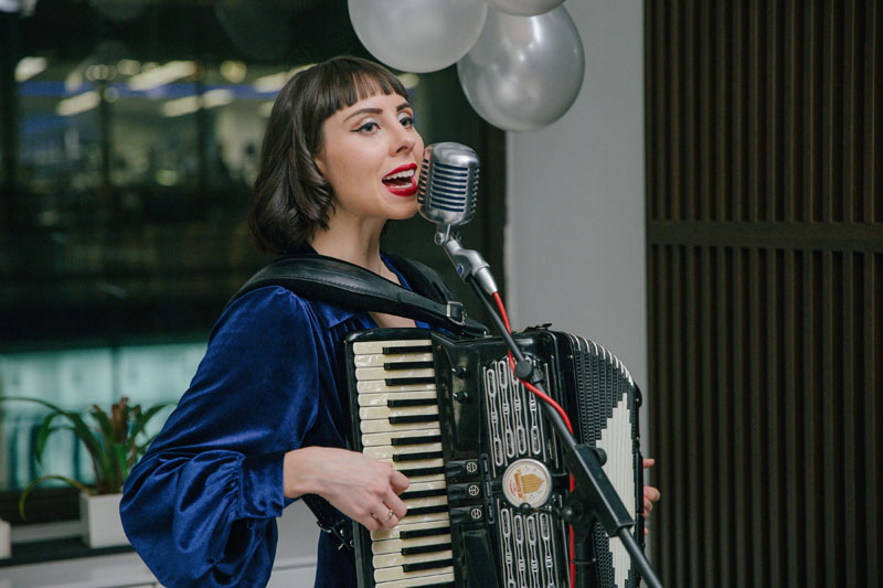 Accordionist/vocalist Erica Mancini