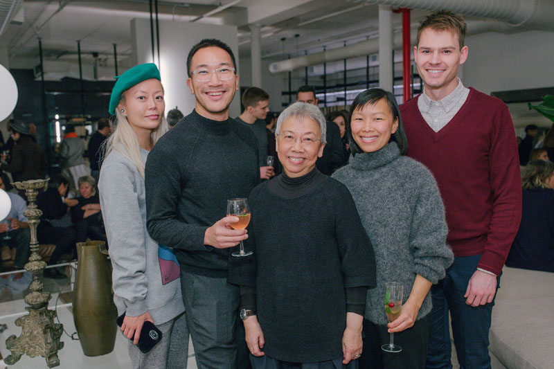 Nina Cheng of Wild and Woolly, Andrew Lee of Equinox, Lillian Leong of Boffi,