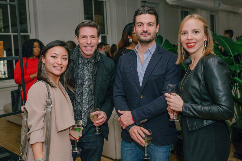Rebecca Lee (left) and Giulia Dragoni (right) of Boffi, with industry supporters