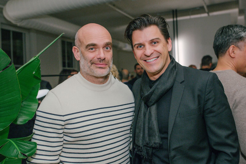 Marcello Lucchetta with Davide Cremese of Boffi