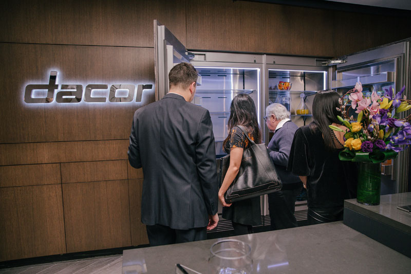 Guests explore the Dacor appliances