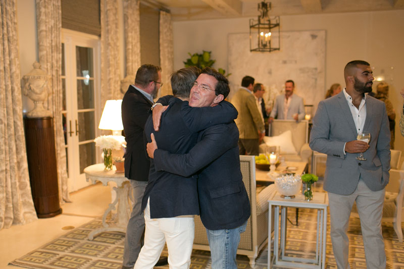 Guest greet old friends and welcome new ones to the Palm Beach design community.