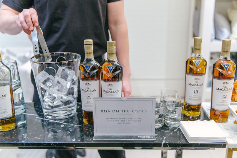 The event's signature cocktail, featuring Macallan
