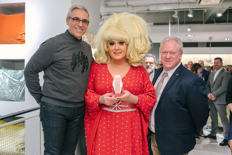 Mitchell Gold, DJ Lady Bunny and Michael Jones