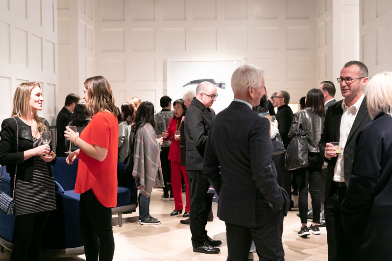 Guests gathered in the A. Rudin showroom to celebrate Orlando Diaz-Azcuy.