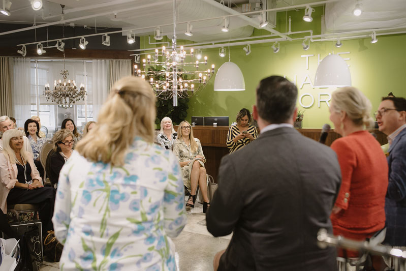 "The panel, entitled ""Designing for Good"" was held at The Shade Store."