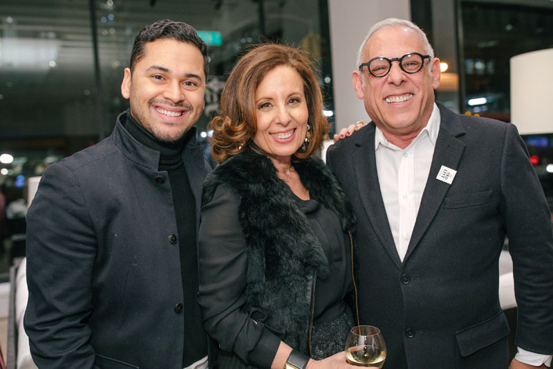 Erick Espinoza, Pamela Jaccarino and Anthony Baratta
