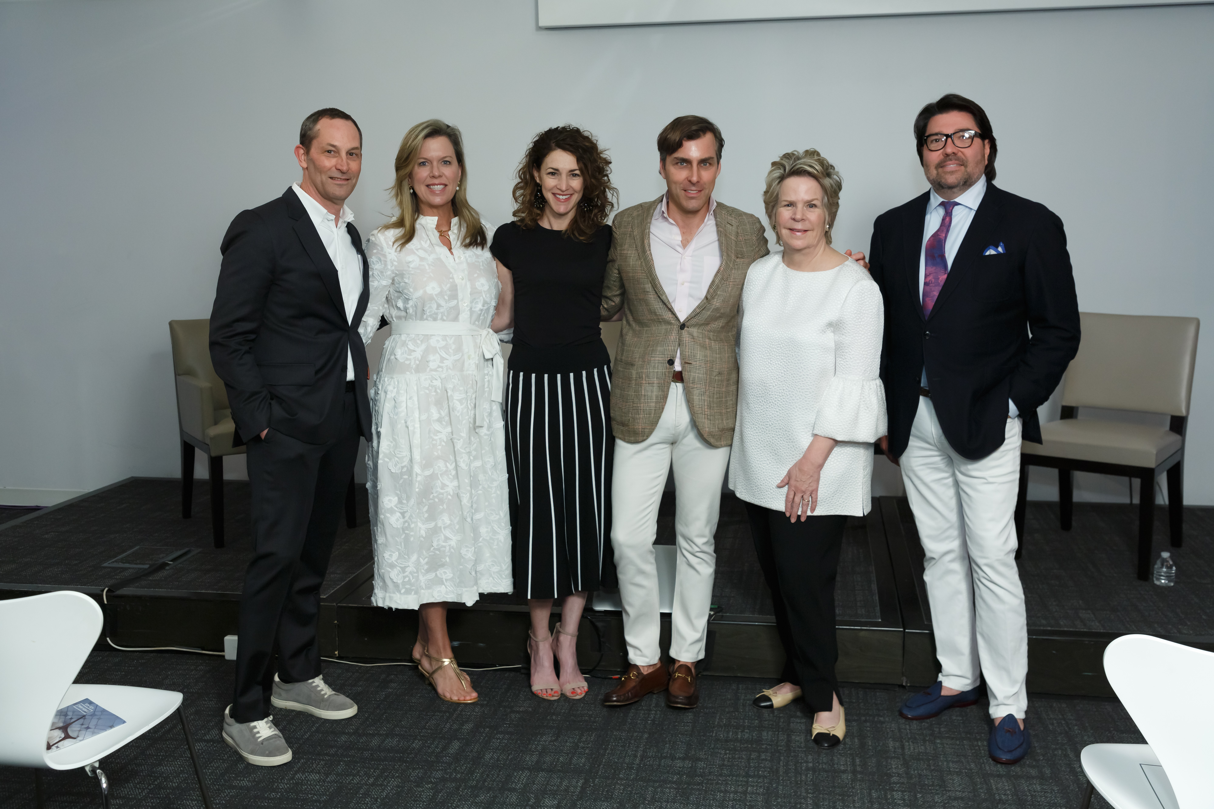Members of the 'Celebrating a Return to Pretty' panel included David Hamilton, Ashley Whittaker, Ellen McGauley, Matthew Carter, Bunny Williams and Chad Holman.