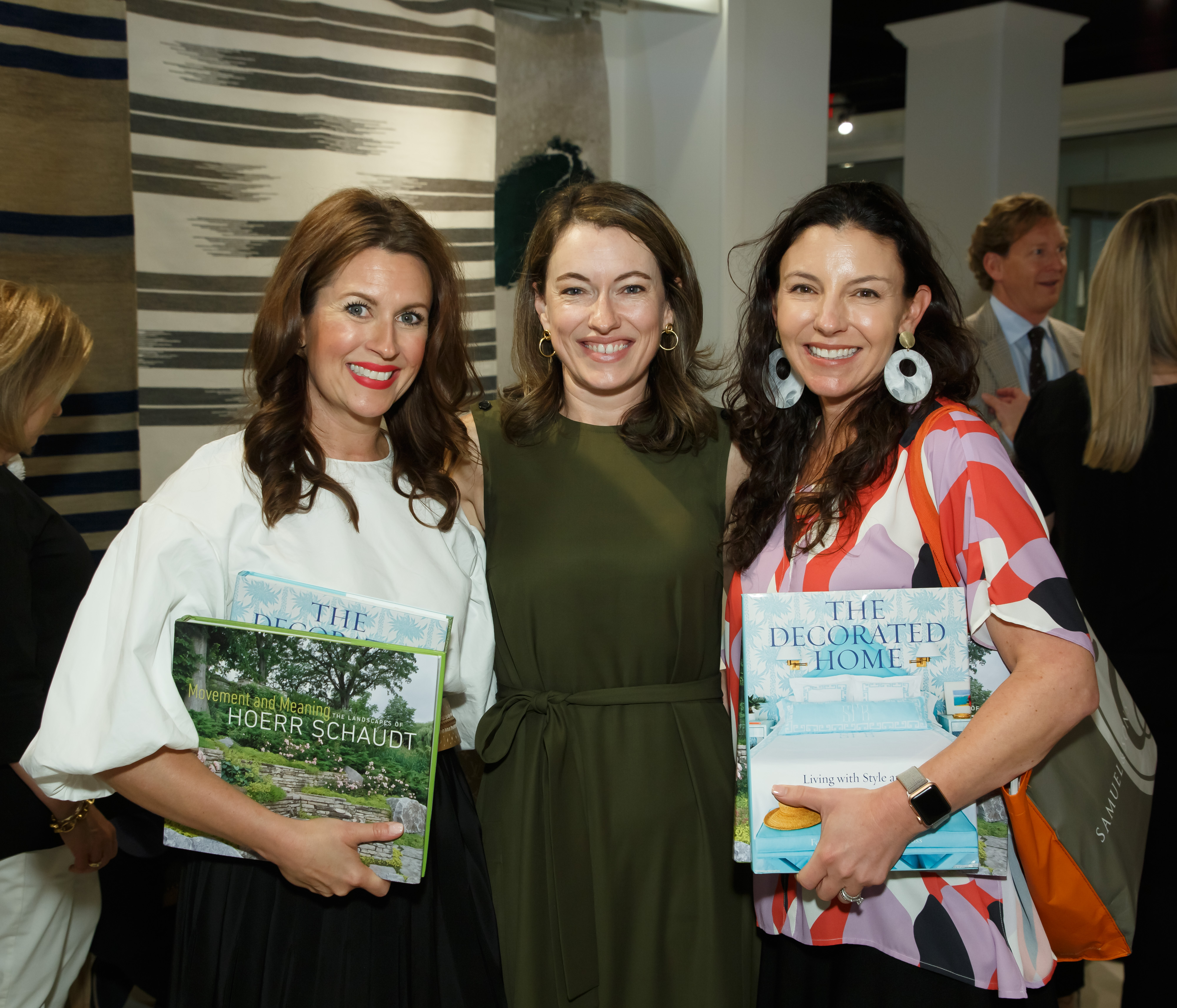 Lauren DeLoach, Steele Marcoux and Jessica Bradley at a book signing event for both 'The Decorated Home' and 'Movement'