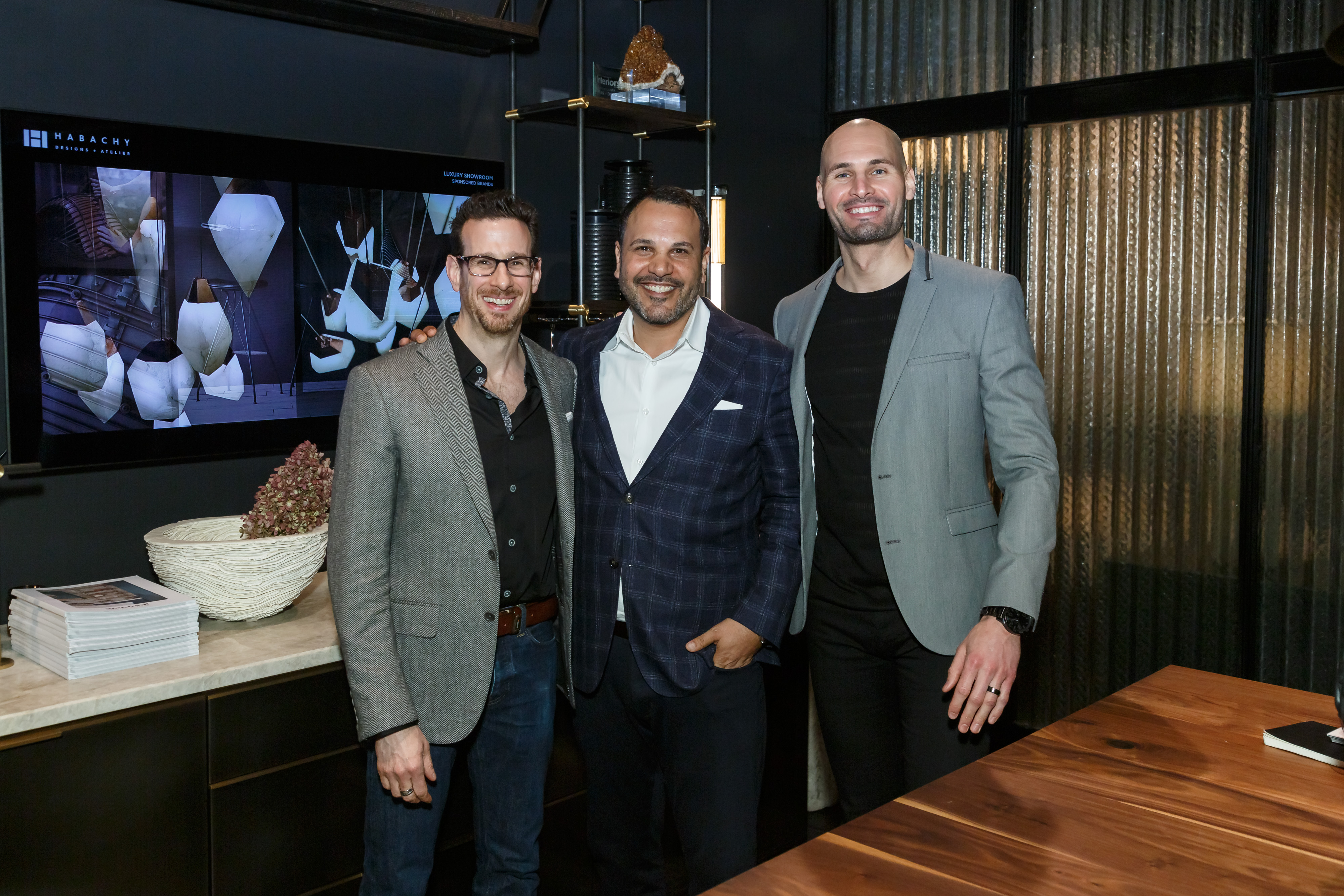 Michael Habachy and the Amuneal team hosted a lunch-and-learn at Habachy Designs + Atelier.