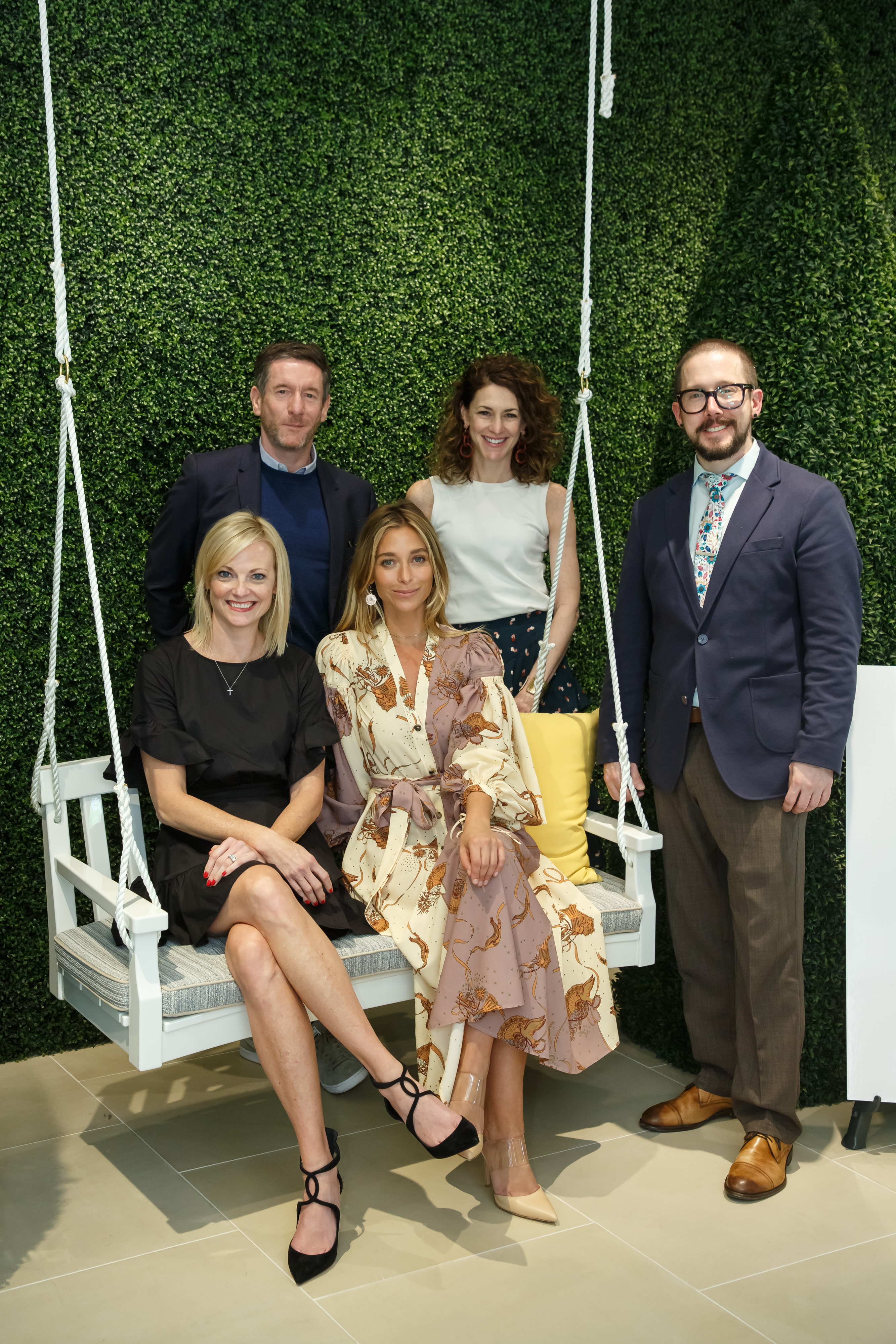 Katie Miner, Peter Dunham, Jessica Schuster, Ellen McGauley and Tim Daly at the Masters of Design reception at JANUS et Cie