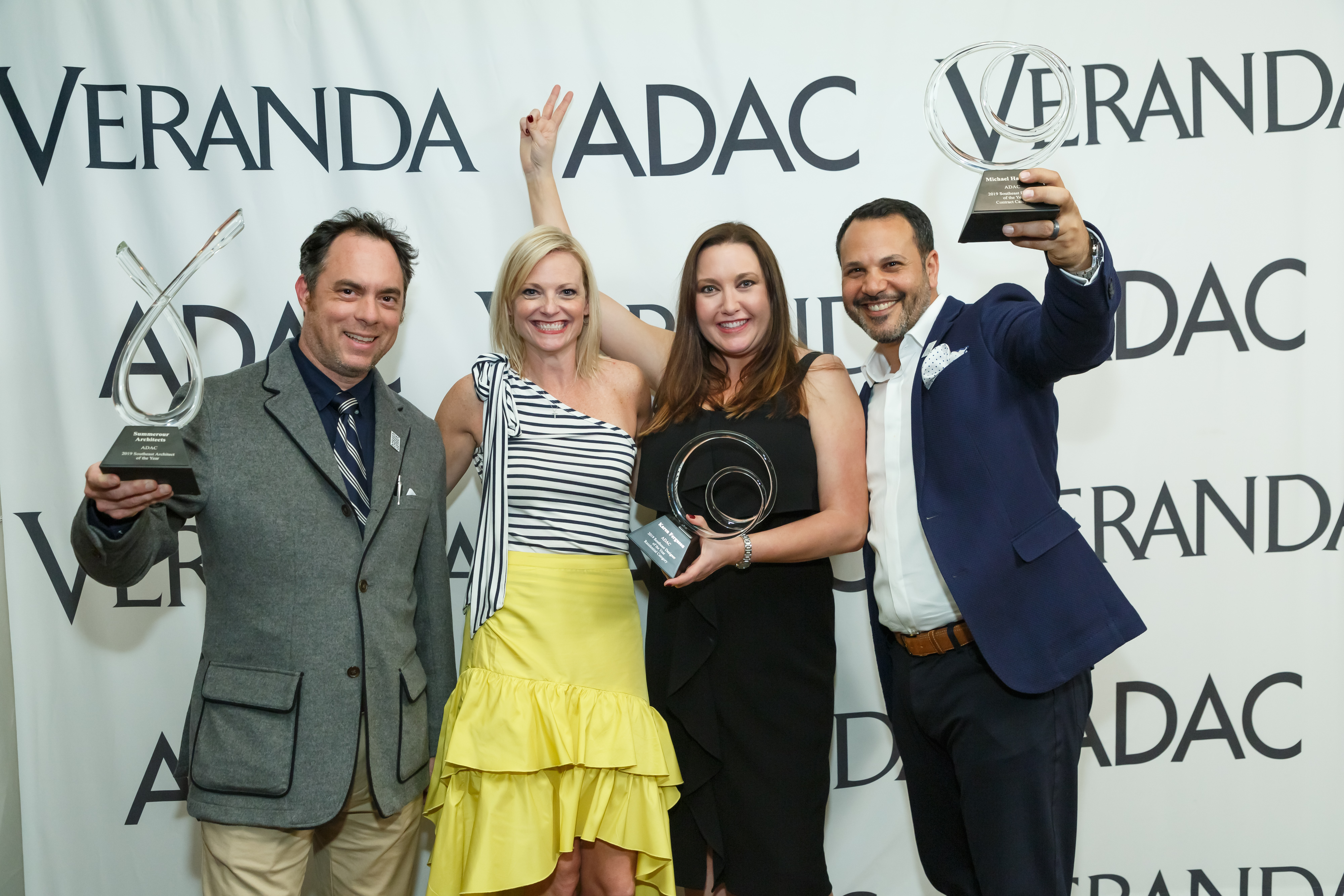 Katie Miner (second from left) with Southeast Designers & Architect of the Year award winners DJ Betsill, Karen Ferguson and Michael Habachy