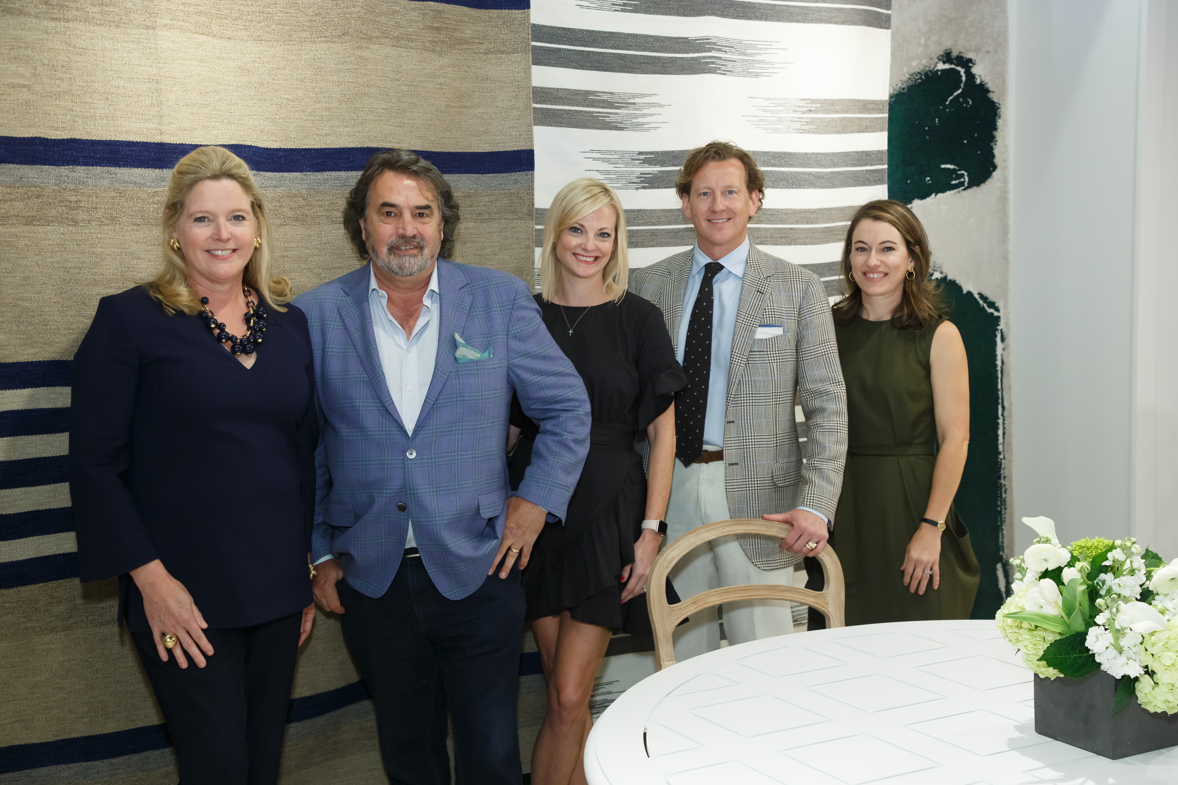 'Transportative Power of Design' panelists Meg Braff, Doug Hoerr, Stan Dixon and Steele Marcoux, with Katie Miner (center). The panel was held at Sutherland and Perennials.