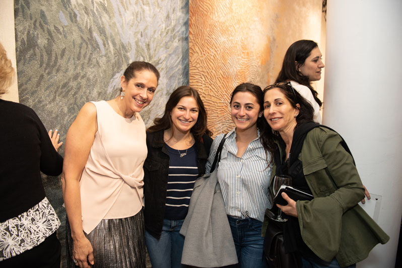 Bethany Hopf of Tai Ping/Edward Fields, with Janine Rosenblum of Janine Rosenblum Interiors, Willa Rosenblum and Hallie Rosenblum