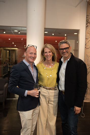 Jonathan Arnold, Susan Petrie of Petrie Point Designs, and John Bossard of Bossard Design