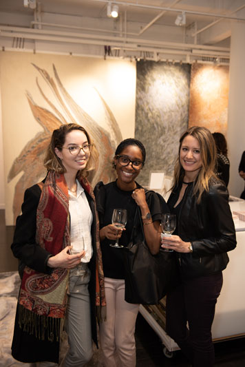 Anastasia Duyko, Ashley Hunte, and Jacqui Simione of Nicole Fuller Interiors