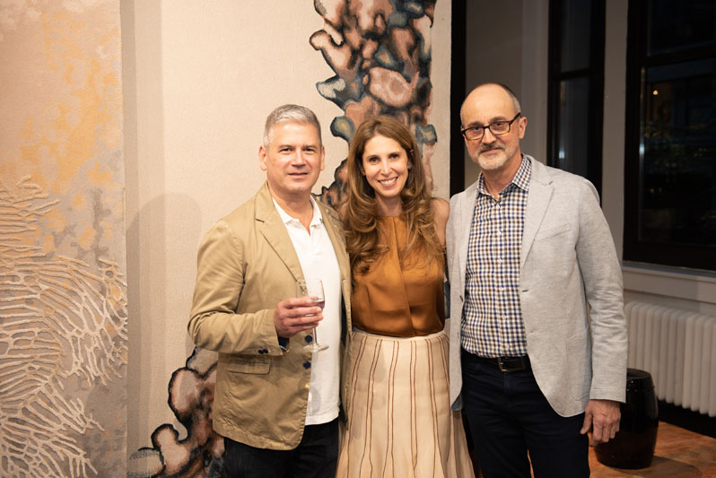 Fabio Mejia and Juliana Polastri, with Arthur Dunnam of Jed Johnson Studio