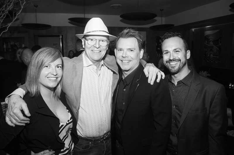 Photographer Meghan Beierle-O'Brien; Grey Crawford, principal photographer of 'The New Glamour'; Jeff Andrews; and Andrews's publicist, Rich Pedine of RPpr