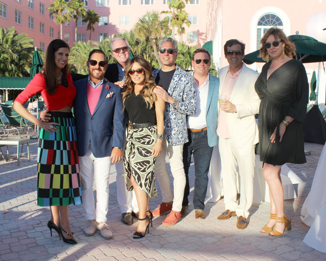 Shayla Copas, Ray Langhammer, Bradshaw Orrell, Kelley McRorie of KS McRorie Interior Design, Thom Filicia, Christopher Kennedy, president & CEO of Wendover Art Group Richard Forsyth, and Anna Gustafson of KS McRorie Interior Design