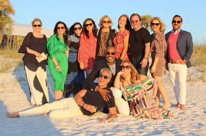 (Back row, from left) Linda Burnside, Kristin Kong, Traci Zeller, Jenny Slingerland, Lexi Westergard, Laura LaFrenais, Patrick Madden, Britany Simon and Ray Langhammer. (Front row, from left) Thom Filicia, Ron Woodson and Jaime Rummerfield