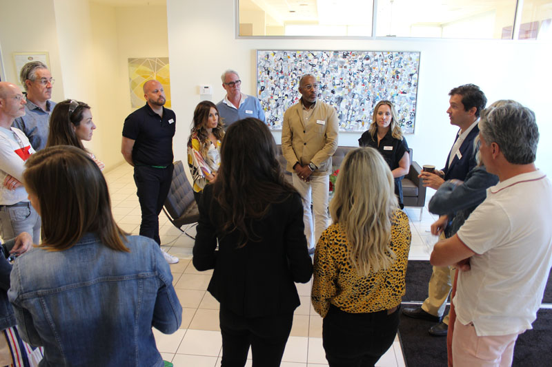 The group toured Wendover Art Group's facilities on the second day of the Designer Summit.