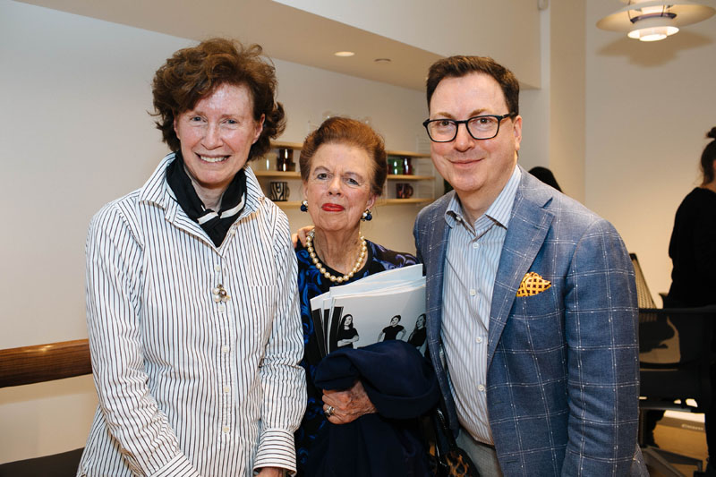 Wendy Goodman, Nancy Scully and Dennis Scully