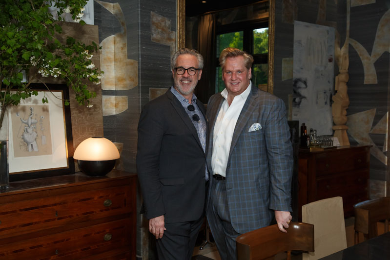 Robert Brown, honorary chair of the Southeastern Designer Showhouse, with Dennis Hunt of Ainsworth-Noah