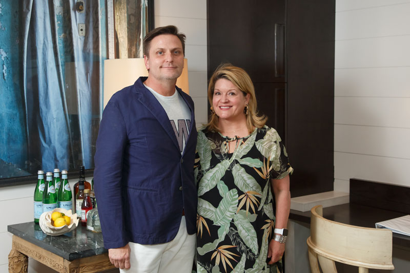 Keith Arnold of Suzanne Kasler Interiors, and Angela Patrick of Ainsworth-Noah