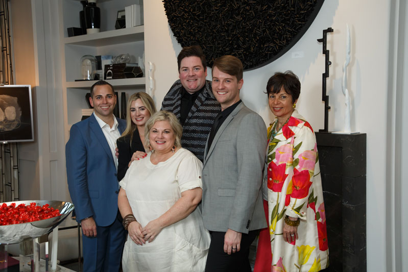 Brad Wensel, Randi Stoves, Beth Garrett, Jonathan Savage and Travis Hill, all of Savage Interior Design, with Beth Dempsey of Images & Details