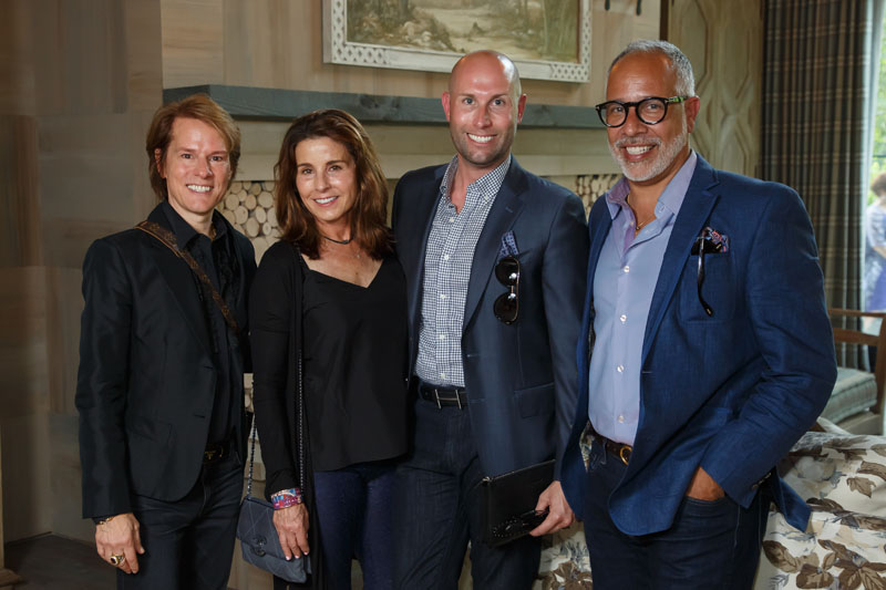 Doug Weiss of Douglas Weiss Interiors, Debbie Brown of Atlanta Homes & Lifestyles, Alex Page of Harry Norman Realtors, and E. Vincent Martinez of Fashionado