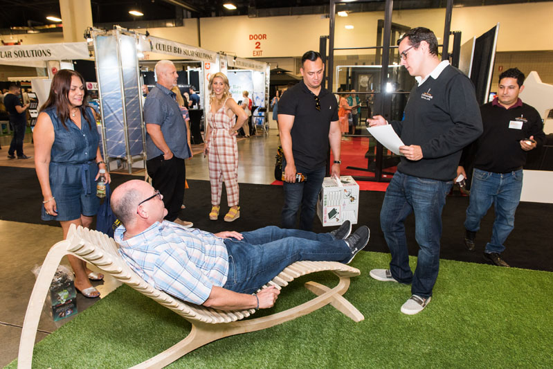 At an event as big as the Fort Lauderdale Home Design and Remodeling Show, it's important to take advantage of any opportunity to put your feet up.
