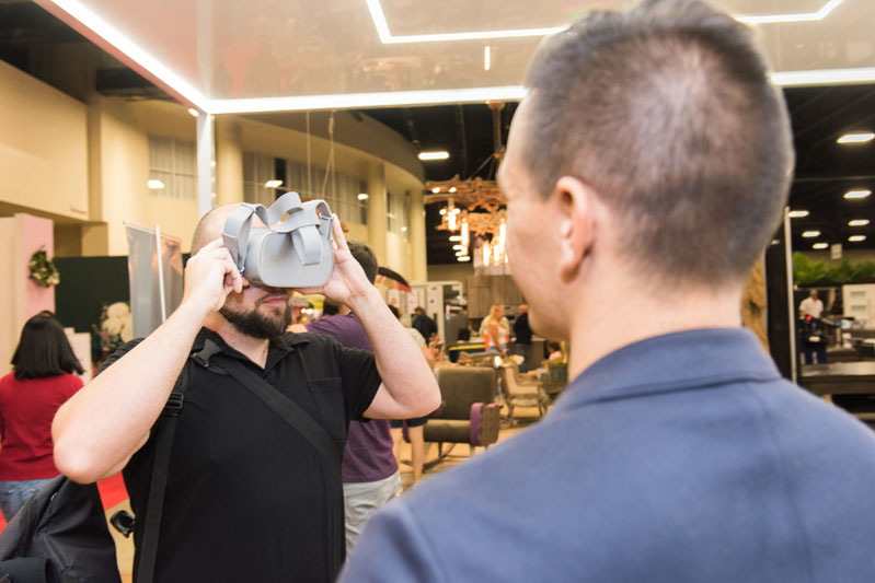 A virtual reality display