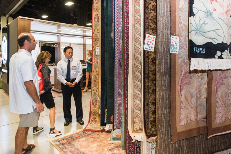 Rugs on display at the Home Show