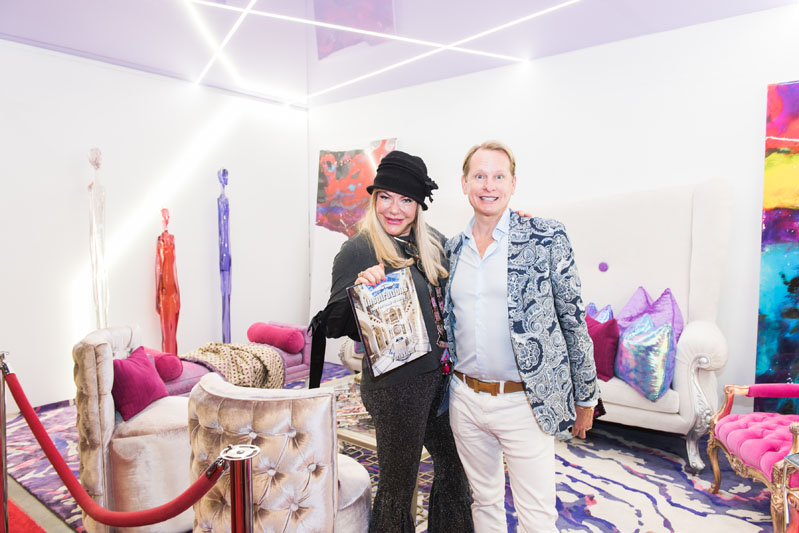 Carson Kressley with featured interior designer Perla Lichi